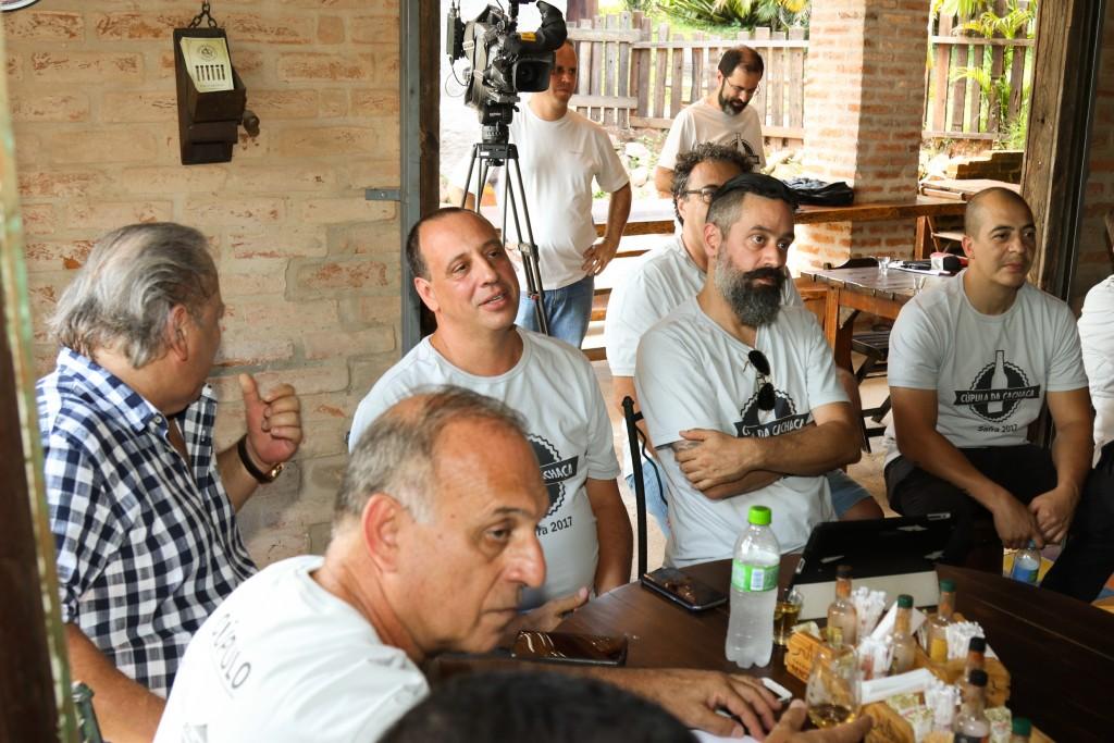 Roberto Brasil (Gouveia Brasil) e os cúpulos Manoel Agostinho, Nelson Duarte e Maurício Maia